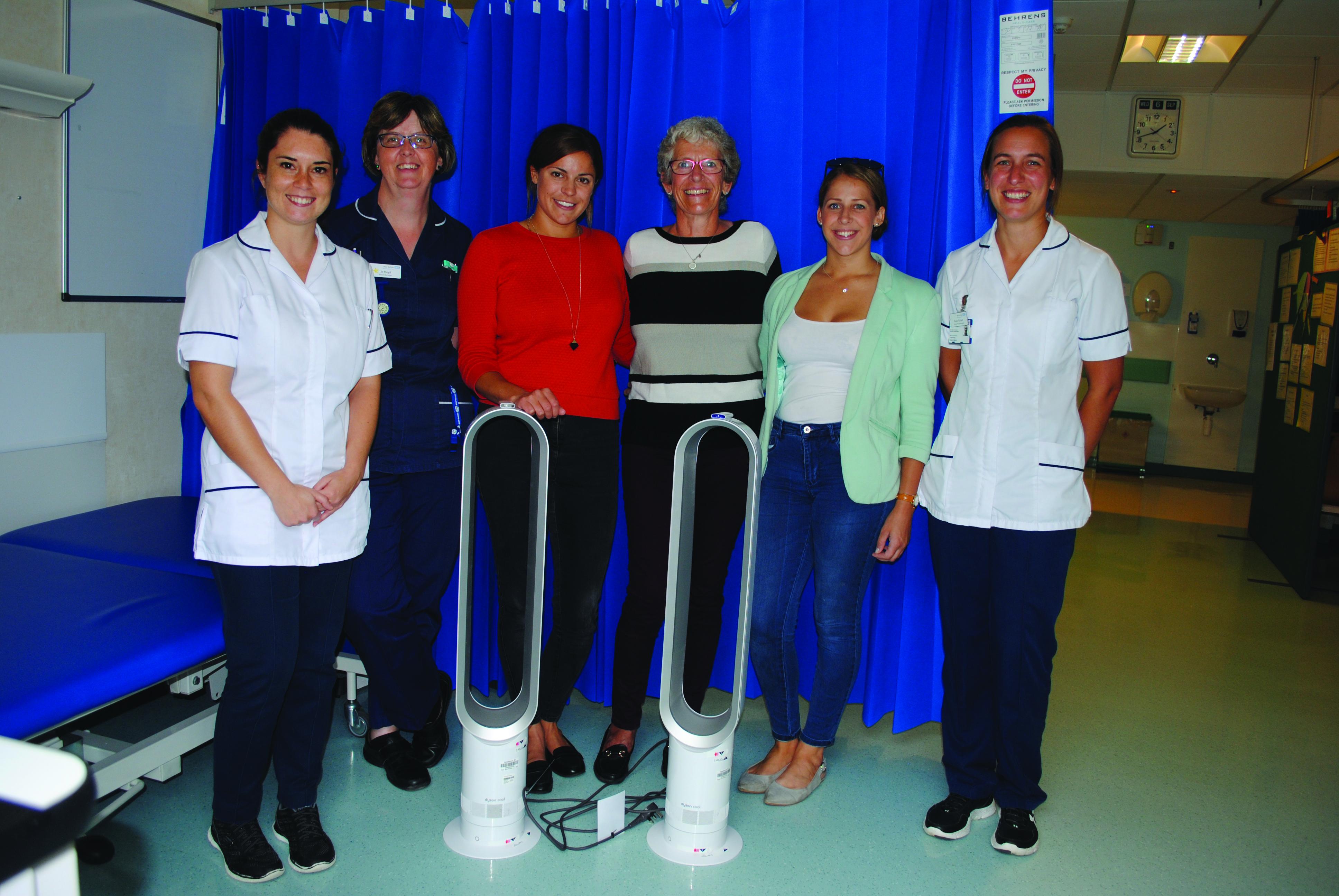 Physio, Jo Floyd ward manager, Katie McLernon, Carol McLernon, Lucy McLernon, physio
